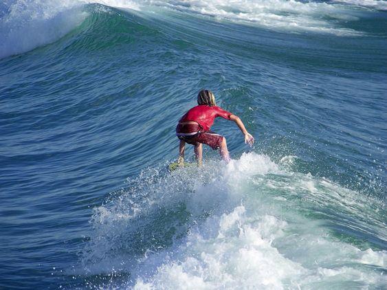 Unge Surfer Boy.