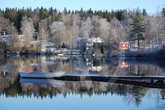 Frostig dag vid Sjunnarydssjön i Småland 3  (Sweden)