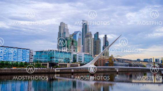 View on Puerto Madero in Buenos Aires