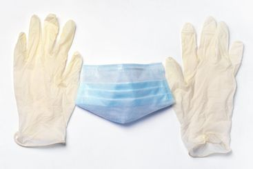 protective medical mask and gloves