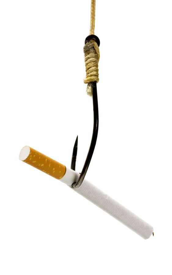 cigarette in fishhook concept