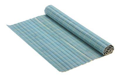 bamboo mat on white