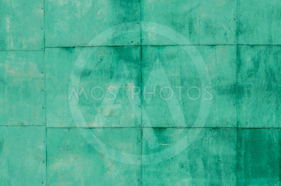 Dirty green metal plate texture for background