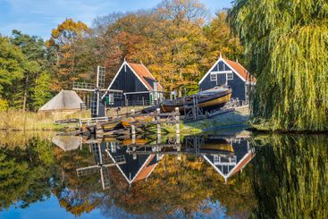 Historic Dutch landscape scene