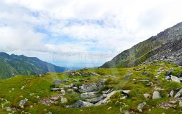 Panoramic view of Fagaras Mountain on summer