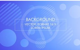 Vector illustration, blue abstract background in format...