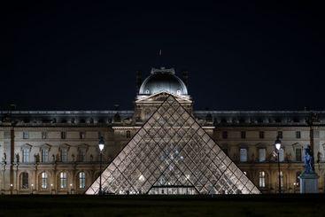 Louvre Pyramid, Paris, France, 2020