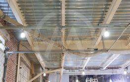 indoors and workshop concept - ceiling of the workshop...