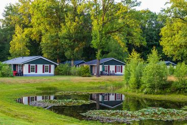 Bungalows at recreation park in the Netherlands