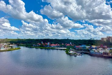 An aerial view of a Disney resort in Orlando, Florida.