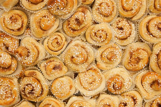 Cinnamon buns as background