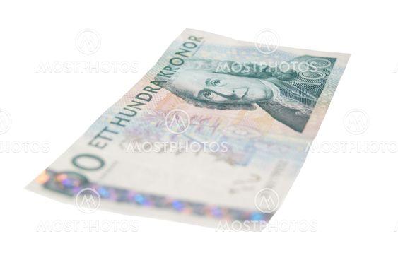One hundred SEK bill.