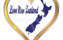 Love New Zealand Silhouette
