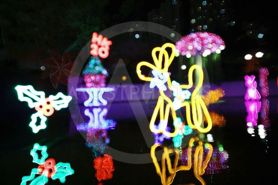 Sha Tin Festive Lighting at hong kong 2017