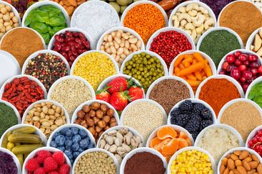 Fruits and vegetables spices ingredients background...