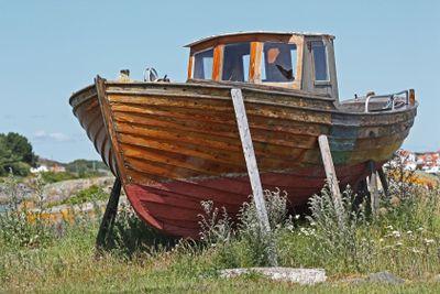 gammal träbåt