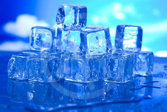 Background with ice cubes, cold and fresh concept