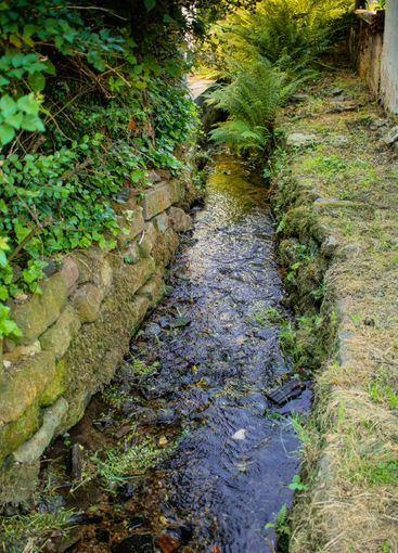 canalized small creek