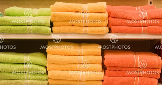Green and Orange Towels
