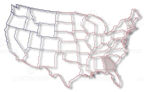 Steffen Hammer N Kuva Yhdysvallat Georgia Kartta Mostphotos