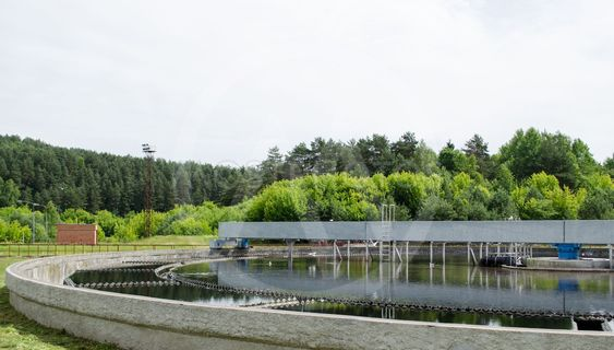 cleaned sewage water clarification waterwork