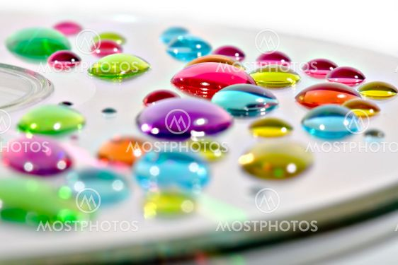 Ink drops on CD
