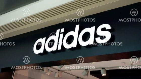 Adidas shop sign