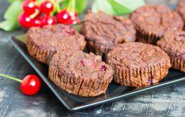 Chocolate cherry muffin