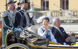 The swedish queen Silvia and king Carl Gustaf Bernadotte...