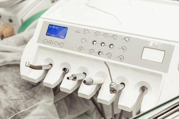 Dentist tools. Dentist workplace equipment set. Health...