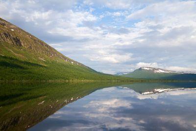 Scenic Lapland lake.