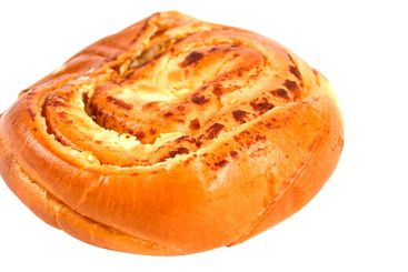 Bun baked with cheese