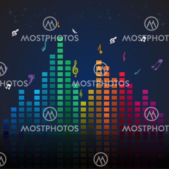 färgstark musikkort