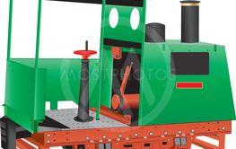 Vintage Quarry Locomotive