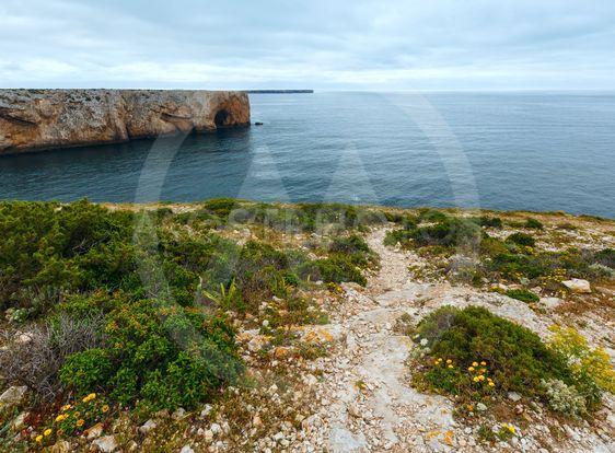 Summer Atlantic coast (Cape St. Vincent, Algarve,...