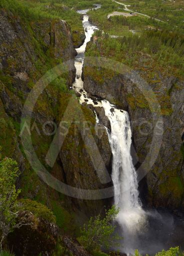 voring falls the highest waterfall in norway panorama...