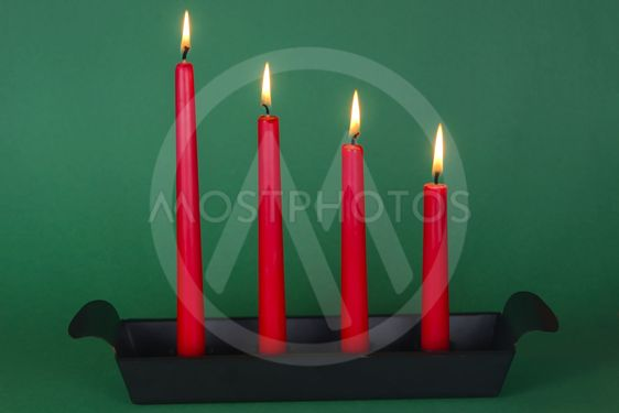 Fourth of Advent with red candles