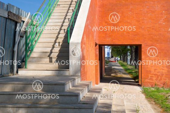 arch and steps