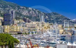 Port with yachts in La Condamine, Monte-Carlo, Monaco,...