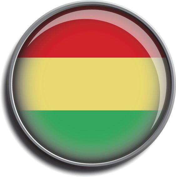 flag icon web button bolivia