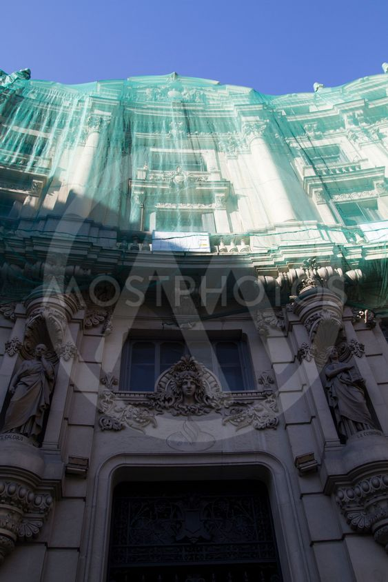 Building under construction, Image of the city of Madrid,...