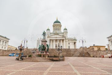 White Cathedral in the center of Helsinki
