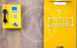 Yellow post box in Vatican