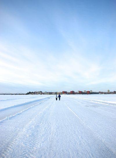 Isväg runt luleå