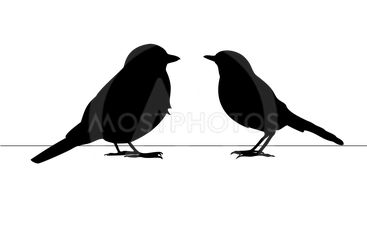 Two birds, love card, postcard. Can be used for postcard,...