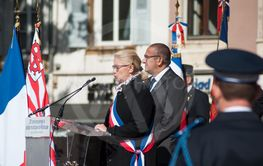 Michele Lutz  the mayor speaking during  the Thirtieth...