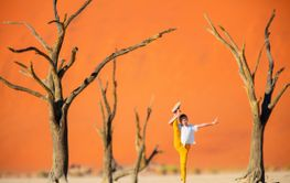 Cute girl in Deadvlei Namibia