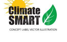 Vektor illustration med text ClimateSMART.