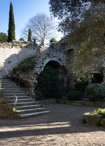 Old stone fortification in the city of Gerona