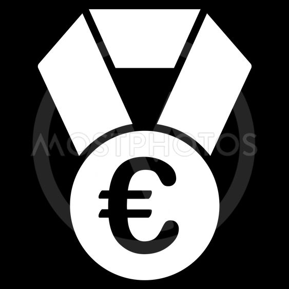 Euro Champion Medal Flat Vector Icon